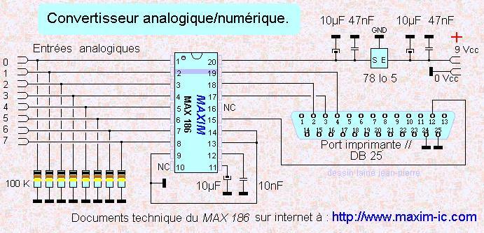 carte analogique numerique 8 voies avec le max 186 convertisseur analogique numerique 8 voies. Black Bedroom Furniture Sets. Home Design Ideas